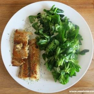 Lachs an Feldsalat