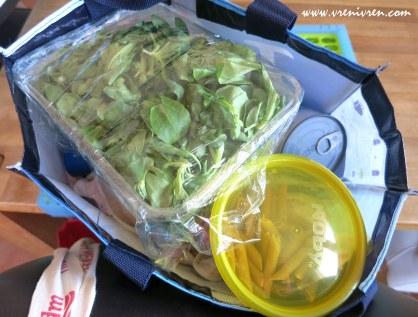 Ration für unterwegs: Feldsalat mit Vollkornnudeln und Thunfisch